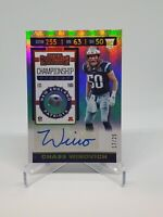 2019 Contenders Championship Ticket Variation Chase Winovich RC AUTO 17/25 Ssp