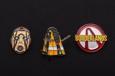 Borderlands Set of 3 Metal Pin BRAND NEW - 2  Pre-Sequel Krieg Psycho Claptrap