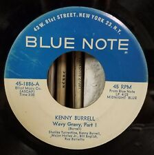 Kenny Burrell | Soul Jazz  45 | Wavy Gravy Part 1 & 2 | Blue Note 1886