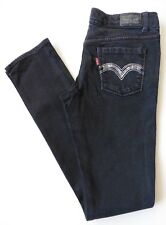 Girls Levis Skinny Jeans Age 16 Years Size 8S (34S) Navy Blue W26 L30 Stretch