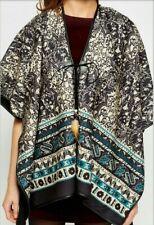 Womens One Size Cape Warm Soft Poncho Lace Fastening Fleece Ladies Stylish