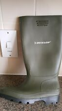 Mens Ladies Dunlop CALF HIGH Wellingtons Wellies Ankle Rain Mucker Boots Shoes