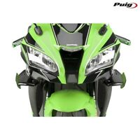 PUIG 9882N SPOILER LATERALE DOWNFORCE NERO KAWASAKI 1000 ZX10R NINJA 2016-2018
