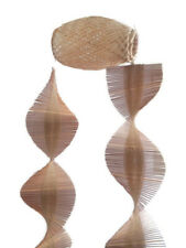 Bamboo Wind Chime Kinetic Spiral With Barrel Home Decoration