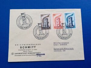 Luxembourg 1956 Europa FDC
