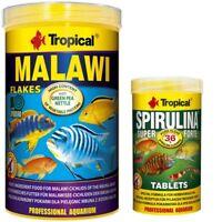Tropical Malawi 1000 ml Flocken + Spirulina Forte 36 % Tabletten 250 ml