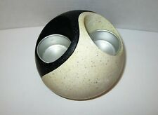 PartyLite Stone Yin yang Puzzle Tealight Candle Holder P7981