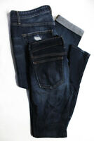 Joes Womens High Waist Distressed Skinny Jeans Dark Blue Size 26 Lot 2