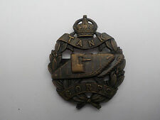 WW1 Officers bronze tank corps cap badge
