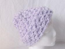 "Lt. Purple Crochet Hat/Beanie Handmade by Pizazz Creations-17""Around-9 3/4"" Long"