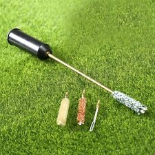 Universal Gun Cleaning Tools Kit Brushes Rod & Plastic Storage Handle Case 7×