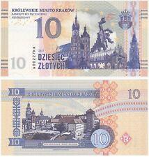 Poland - Krakow 10 Zlotych 2017 UNC SPECIMEN Test Note Banknote