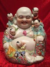 Happy Buddha Porzellan Kinder Reichtum 24cm