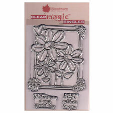 New listing Woodware A6 Clear Cling Stamps - Jgs547 Three In A Row
