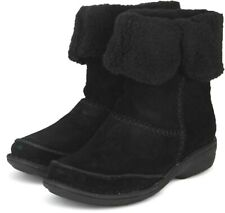 Clarks Avington Grace Black Suede Fur Ankle Boots Size 7D NEW BOXED
