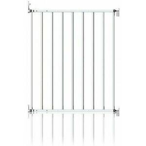 Clippasafe Extendable No-Trip Baby Safety Stair Gate, 60 - 107cm, White