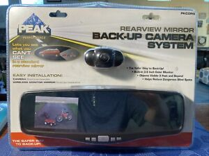 PEAK PKCORG Rearview Mirror Back-up Camera System Easy Installation NEW In Pkg!