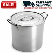 20 Quart Stainless Steel Stock Pot Lid Large Cooking Soup Stew Sauce Cookware
