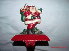 Vtg. Midwest Canon Falls Cast Iron Santa Claus Christmas Stocking Holder Hanger
