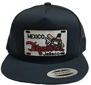 TEQUILEROS DE JALISCO HAT COLOR NAVY  MESH TRUCKER SNAP BACK FLAT BUILD NEW HAT