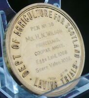 Silver Gilt Poultry Laying Agricultural Medal in Case, 1937