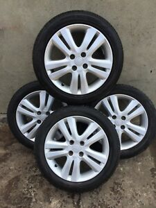2010 HONDA JAZZ COMPLETE ALLOY WHEEL SET WITH TYRE 185 55 R16