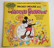 "Mickey Mouse and the Mouse Factory Disney 7"" 33 1/3 RPM Vinyl Record 1972"