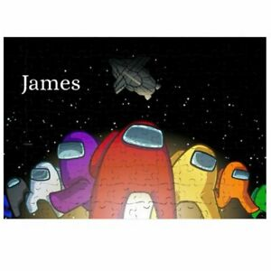 80 Pieces A5 Jigsaw Puzzle - Lockdown Kids Game - Among Us Personalised