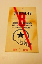 1978 NFL FOOTBALL PRESS PASS VERY RARE DALLAS COWBOYS VS MINNESOTA VIKINGS