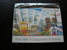 FRANCE -  5 cartes entiers panorama de paris 1989 (cy52) french (T)