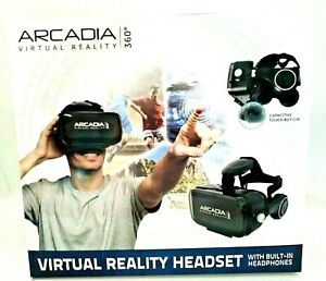 Arcadia VR 360 Virtual Reality Headset Gamer for Apple Android Smartphone ROSE