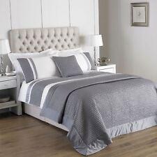 Gesteppt Kunstseide Gummiband Silber Weiß Doppel Baumwollmix Bettwäsche