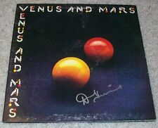 DENNY LAINE SIGNED AUTOGRAPH PAUL MCCARTNEY THE WINGS ALBUM w/PROOF