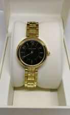 100% Authentic Anne Klein Ladies Watch AK/3028BKGB in Gold-tone