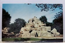 Michigan MI Detroit Zoo Park Aoudads Postcard Old Vintage Card View Standard PC