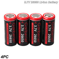4Pack 6800mAh 3.7V 26650 Batteries Rechargeable Li-ion Battery For Flashlight US