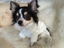 MEDIUM PET CABLE KNIT JUMPER IN CREAM
