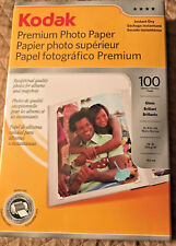 "KODAK Premium Glossy Photo Inkjet Paper, 4x6"", 100 Sheets #1034388 NEW IN BOX GR"
