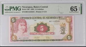 Nicaragua 5 Cordobas 1995 P 180 Gem UNC PMG 65 EPQ