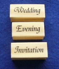 Wedding -  Evening - Invitation 3 x Mounted Polymer Stamps