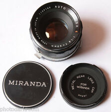 Miranda E 50mm 1:1.8 Lens - Bayonet Mount for EE RE-II 35mm Film SLR - USED J01C