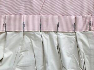 4 Custom Made Pinch Pleat Curtains - British Made Sanderson Stripe Fabric