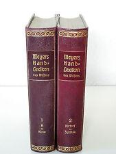 Meyers Handlexikon, 6. Auflage - 1. Neudruck (1913) - 2 Bände (A bis Z) - HLd