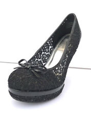 Baby Phat 'Carly' Womens Lace Platform Pump Black/Black Lace Size 8.5 M