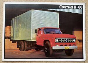 1980 Chevrolet D-60 original Brazilian sales brochure