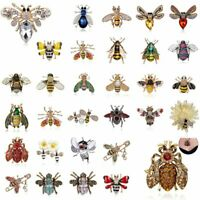 Charm Glass Lovely Crystal Insect bee Brooch Pin Necklace Womens Jewelry Gifts