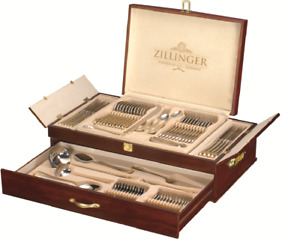 ZILLINGER HEAVY 72 PIECE GOLD CUTLERY SET STAINLESS STEEL CANTEEN CHRISTMAS GIFT