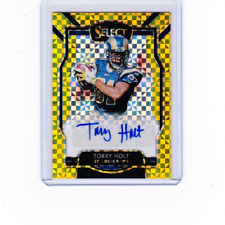 2018 Select Football Torry Holt AUTO Gold Refractor #'D /10 St. Louis Rams