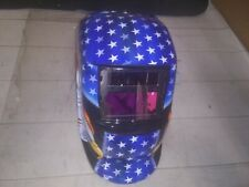 Geelife Solar Powered Welding Helmet Auto Darkening Hood BLUE EAGLE