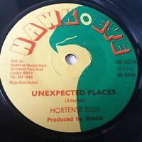"Hortense Ellis - Unexpected Places - 7"" Vinyl Single Reggae Loversrock"